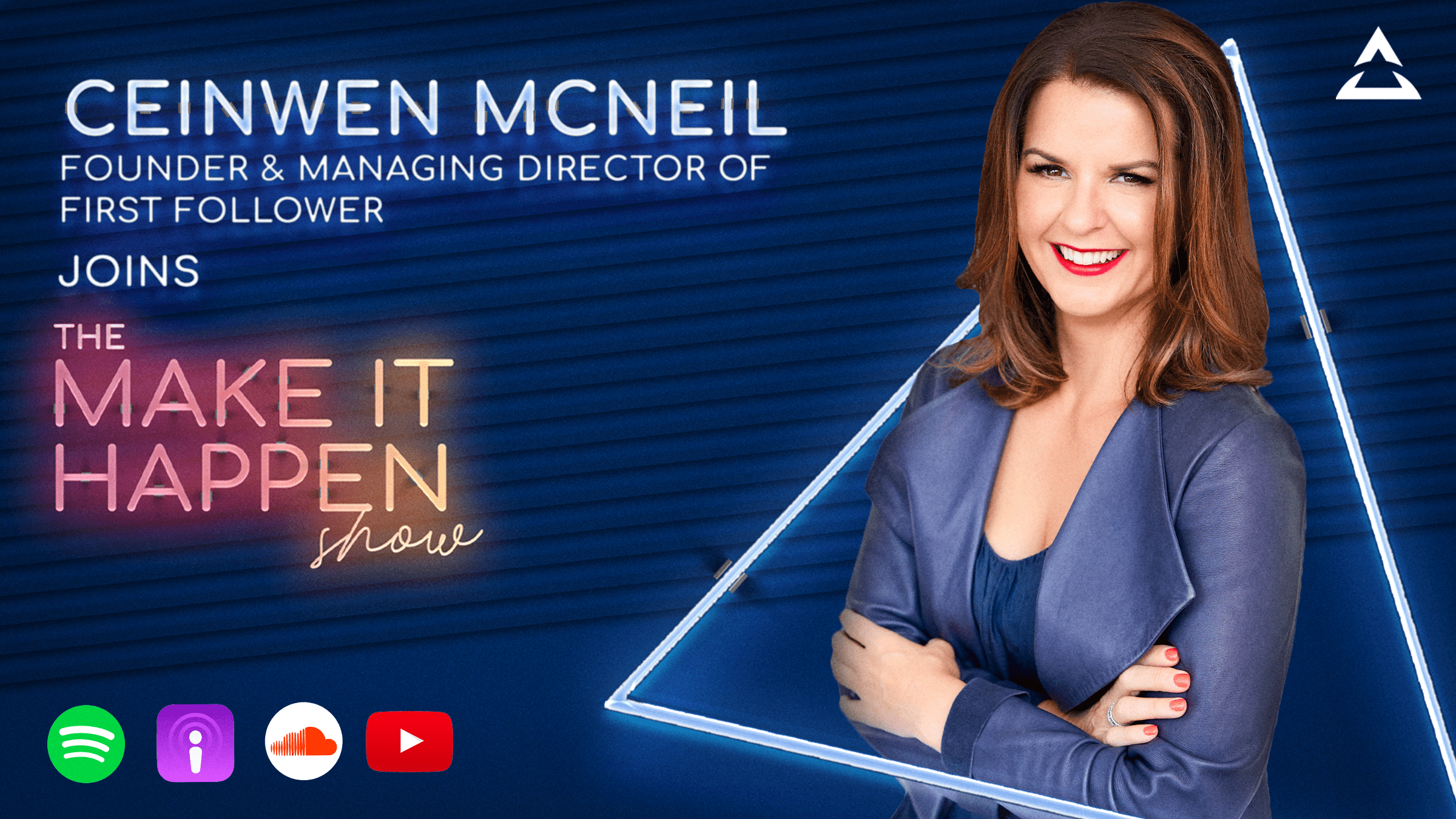 10. Ceinwen McNeil promotional image for The Make It Happen Show
