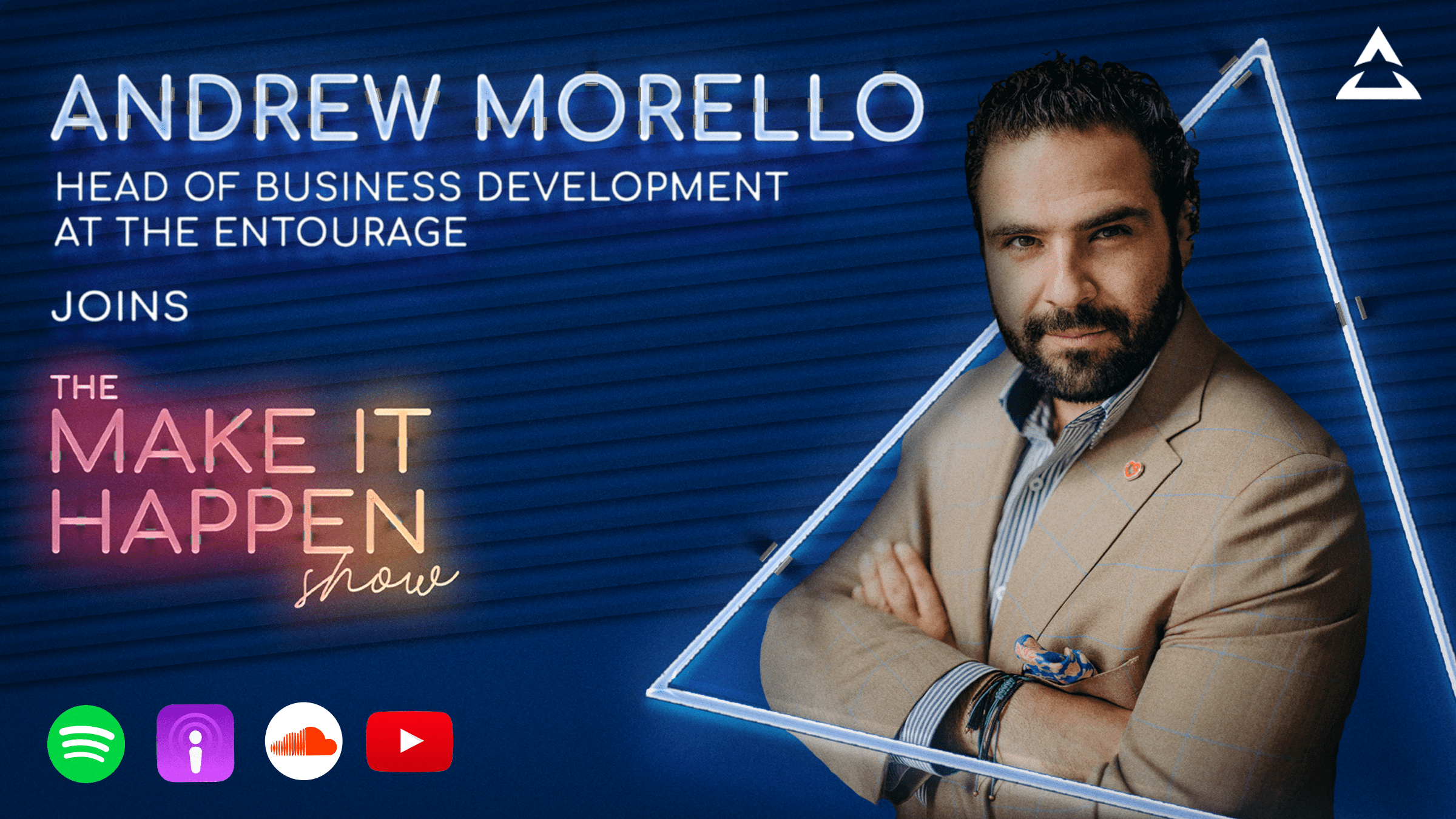 30. Andrew Morello promotional image for The Make It Happen Show