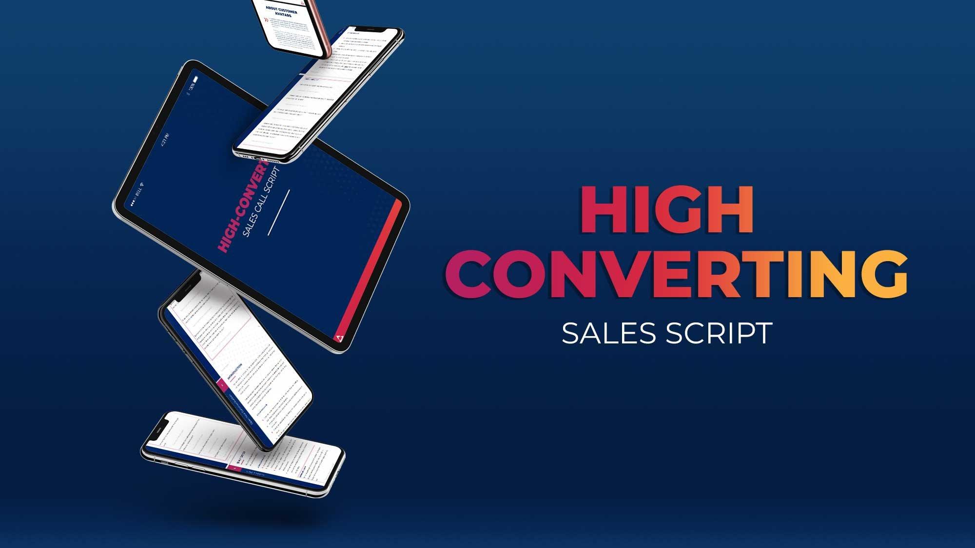High Converting sales script image