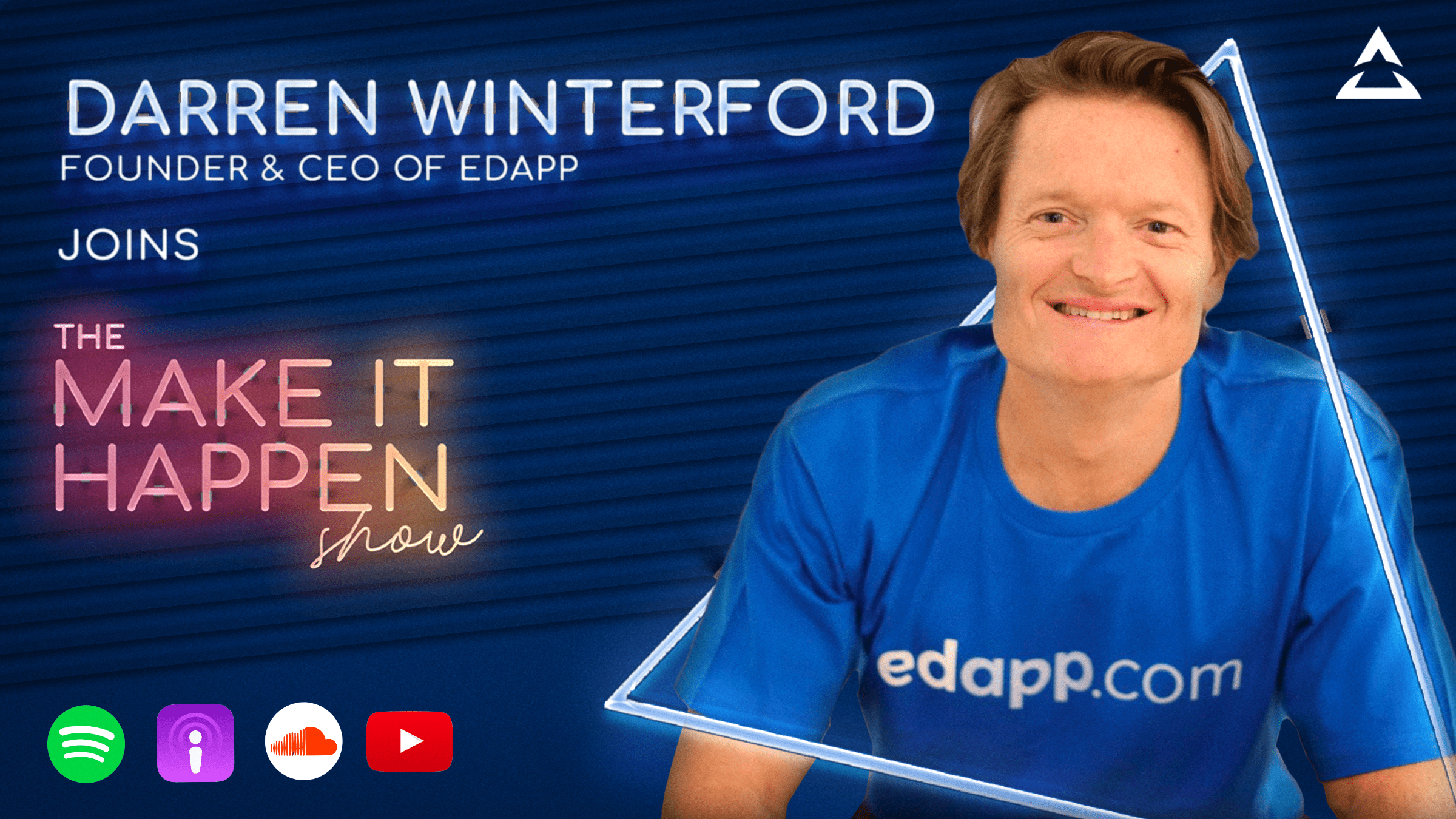 7. Darren Winterford promotional image for The Make It Happen Show