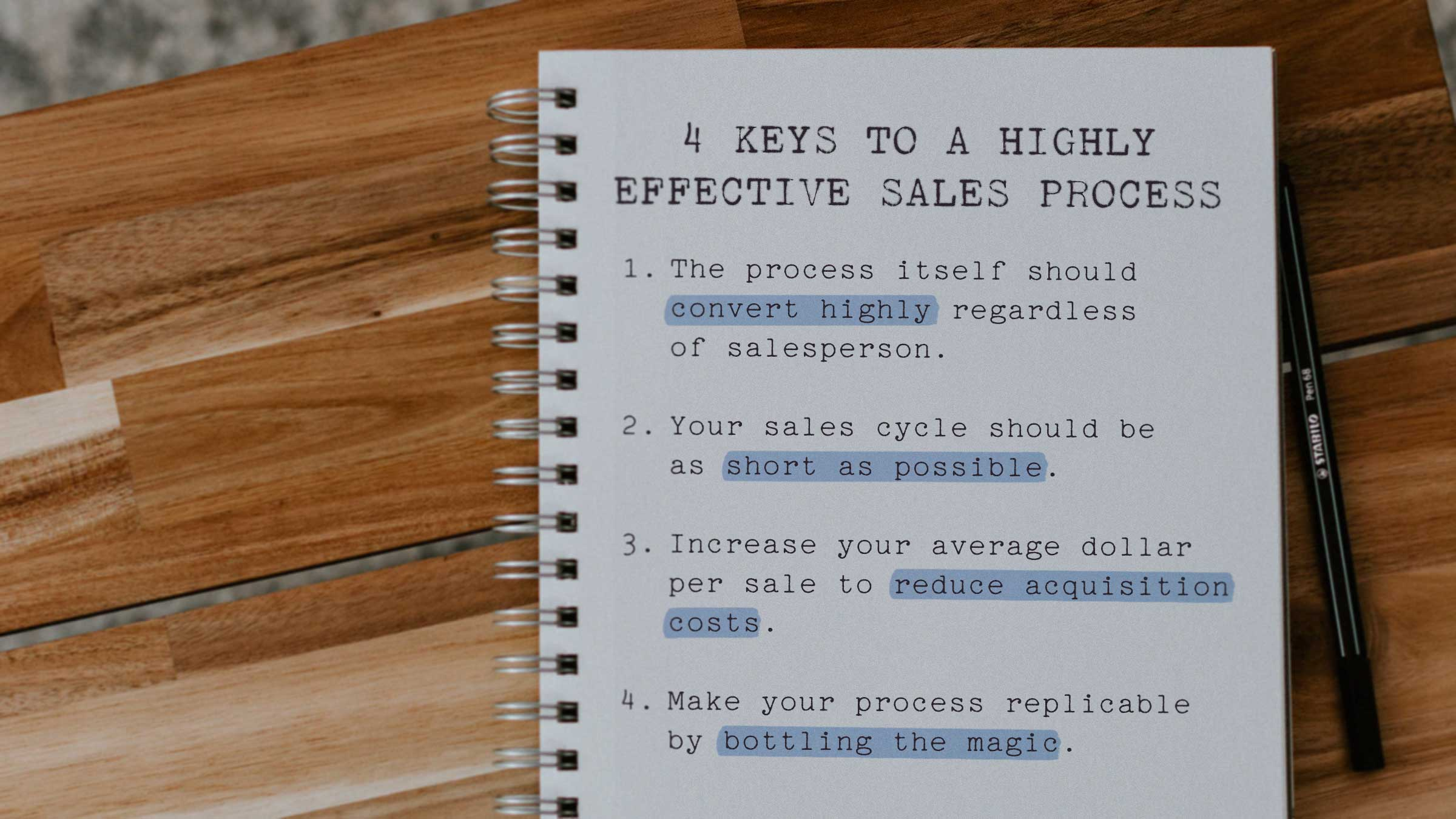 BLOG_4-keys-to-a-highly-effective-sales-process