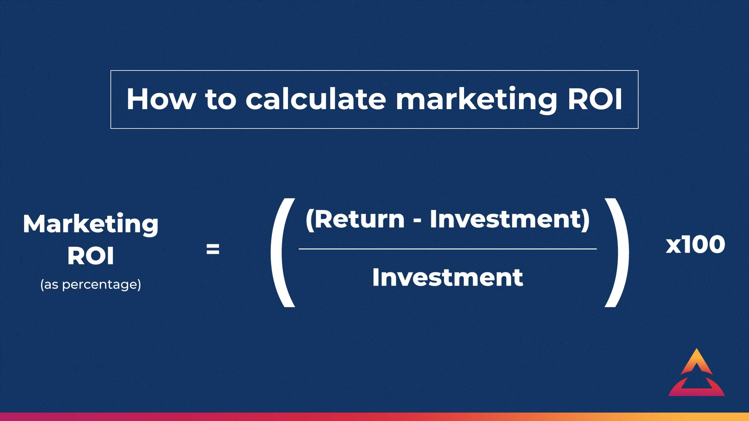 How to calculate marketing ROI for business
