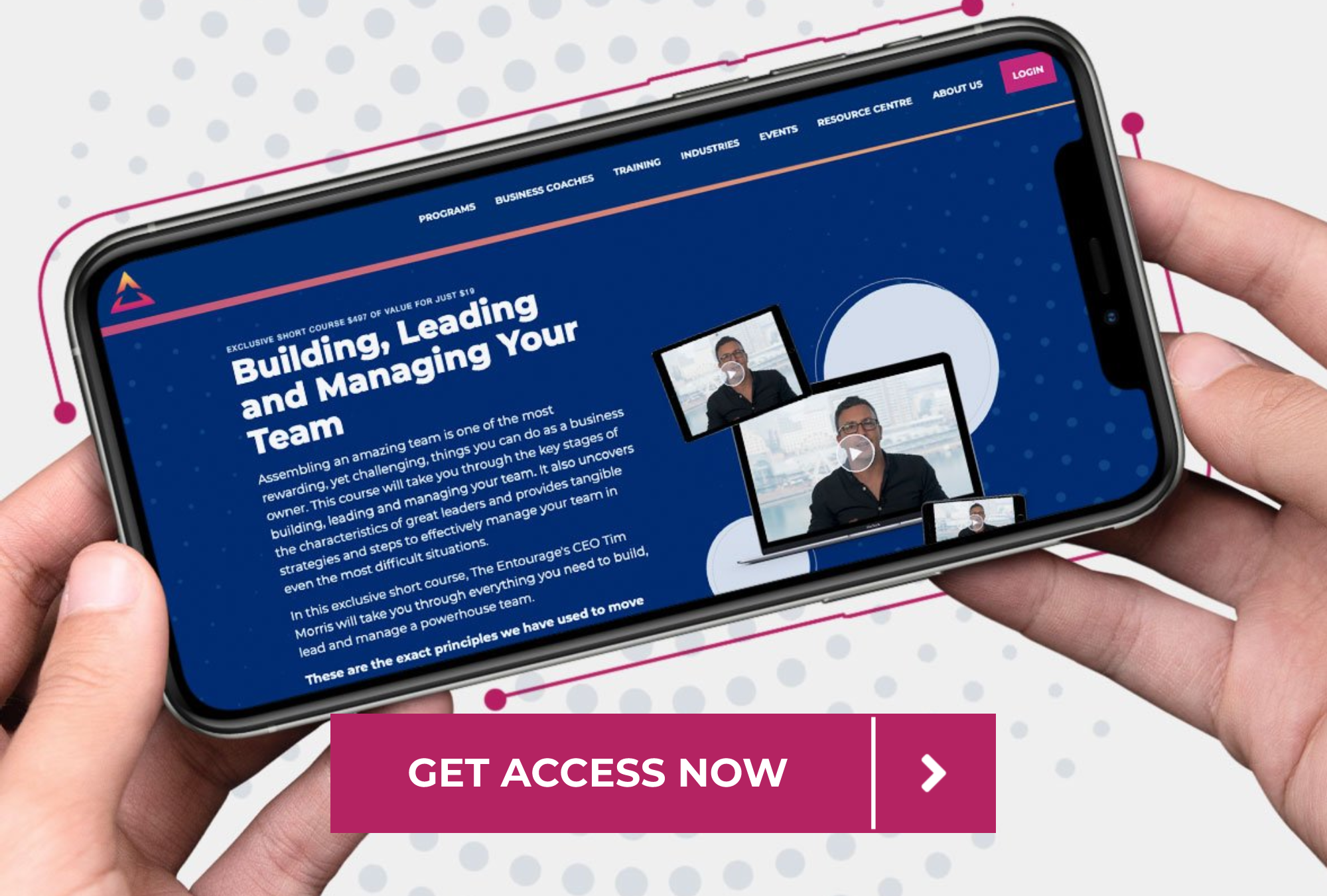 Building, leading, managing your team podcast page CTA