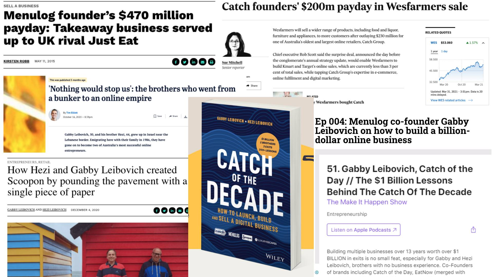 Gabby Leibovich public relations and news articles including Catch of the Decade book