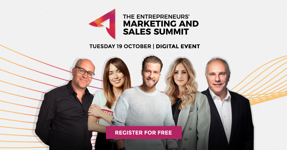 MSS-Facebook-Event_Header The Entrepreneurs Marketing and Sales Summit free digital event featuring Gabby Leibovich, Catch.com.au, Jess Hatzis, Frank Body, Jack Delosa, The Entourage, Justine Flynn, Thankyou, and Tony Nash, Booktopia